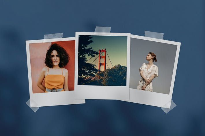 Thumbnail for Polaroid Photo Mockup