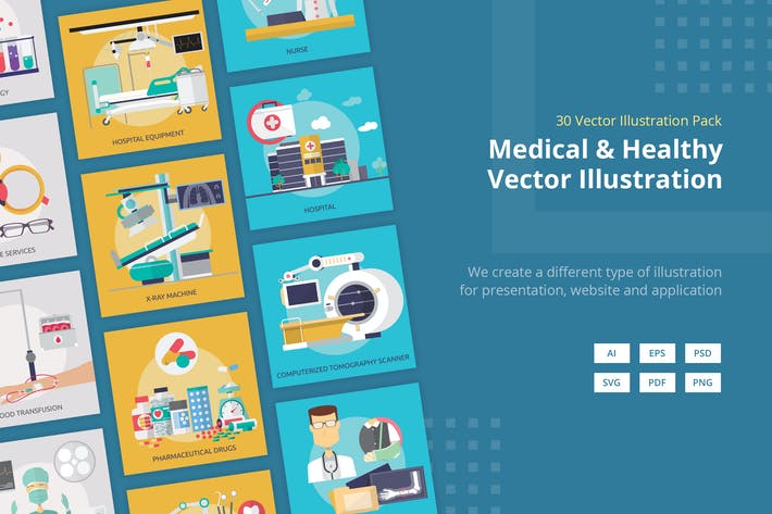 Thumbnail for Medical and Healthy Vector Illustration
