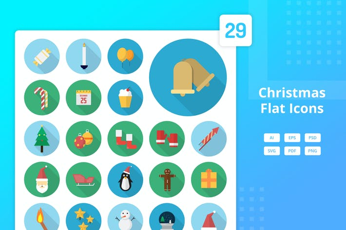 Thumbnail for Christmas - Flat Icons