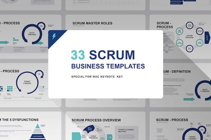 Thumbnail for Scrum Model Keynote Template