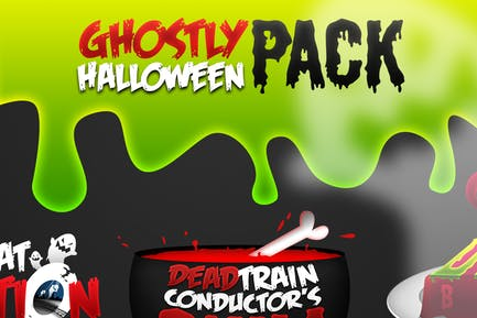 Geisterhafte Halloween-Pack