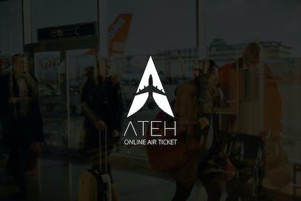 Ateh : Negative Space Plane Logo