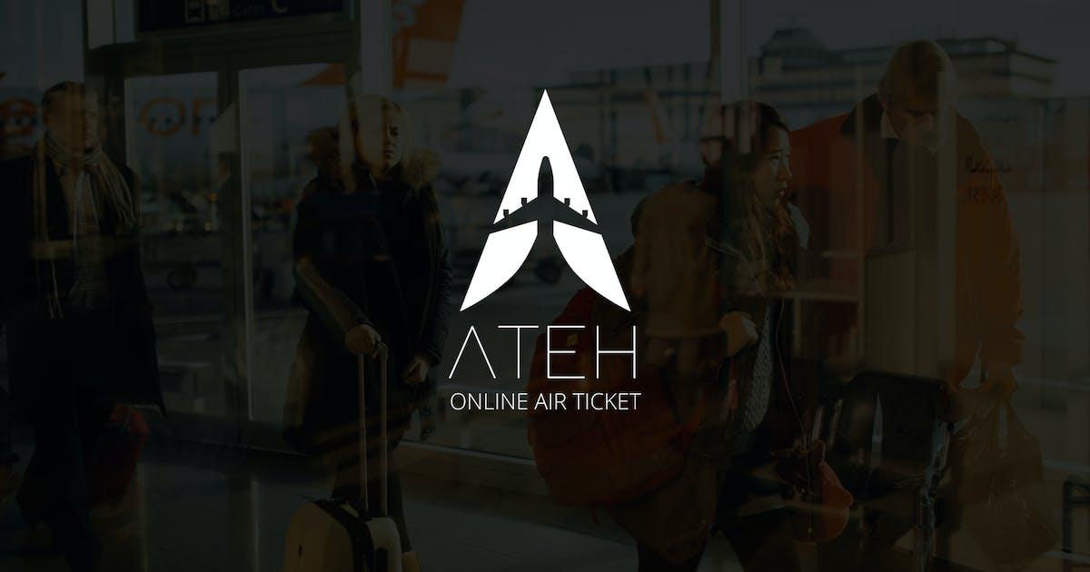 Download Ateh : Negative Space Plane Logo by punkl