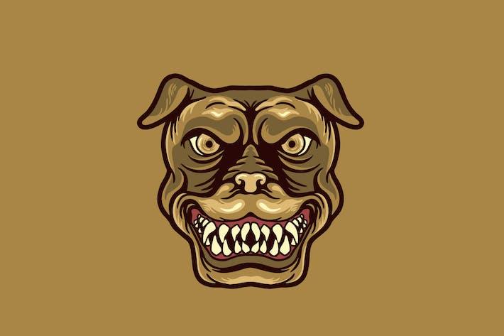 dog head mascot illustration