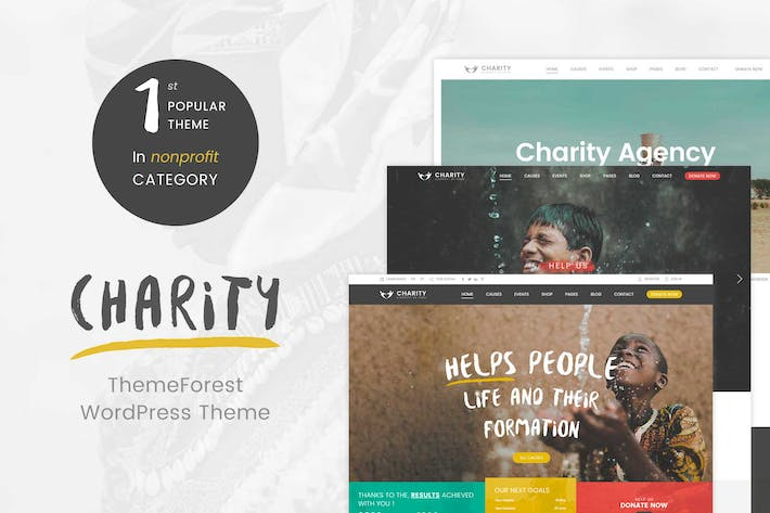 Thumbnail for Charity WordPress Theme