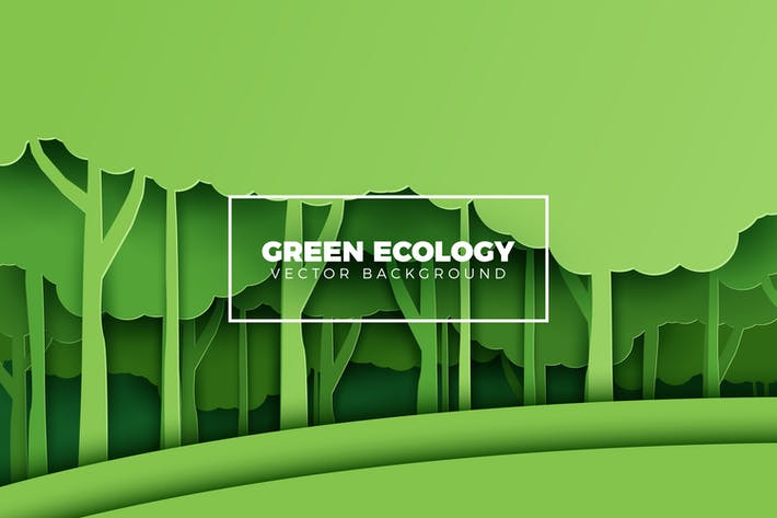 Thumbnail for Green Eco Forest Background
