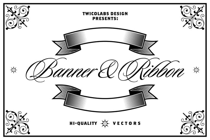 Cover Image For Banners and Ribbons Vector Pack