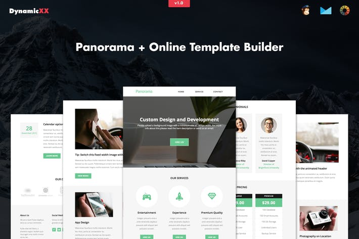 Cover Image For Panorama - Responsive Business Email + Builder