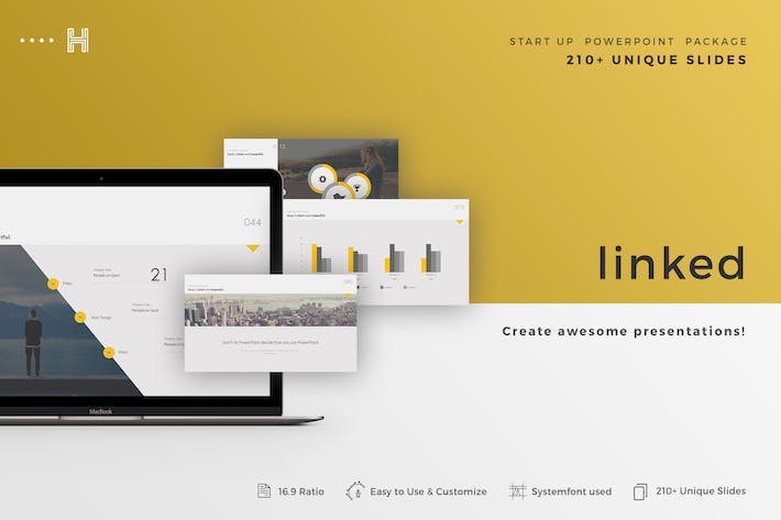 Thumbnail for Linked Powerpoint Template