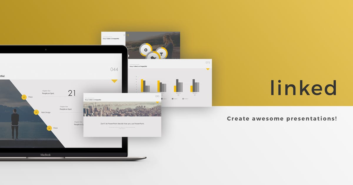 Linked Powerpoint Template by Unknow