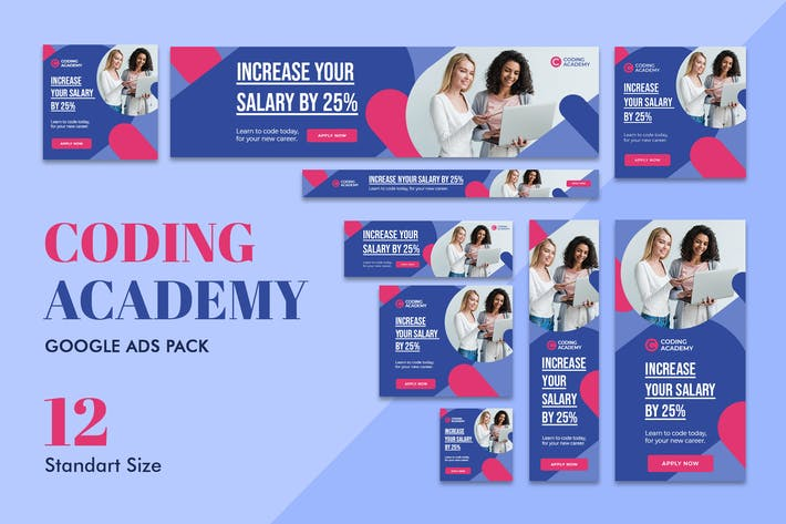 Thumbnail for Google Ads Web Banner Coding Academy