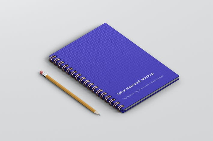 Thumbnail for Spiral Ring Notebook Mockup