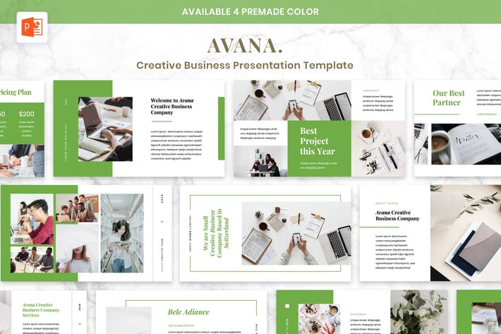 Thumbnail for AVANA - Creative Business Presentation Powerpoint