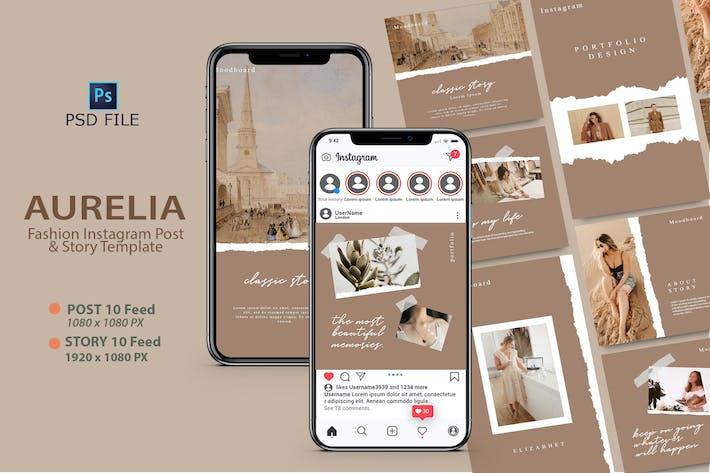 Thumbnail for AURELIA - Modèle Instagram Mode