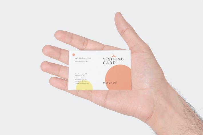 Thumbnail for 4 Handheld Visiting Card Mockups