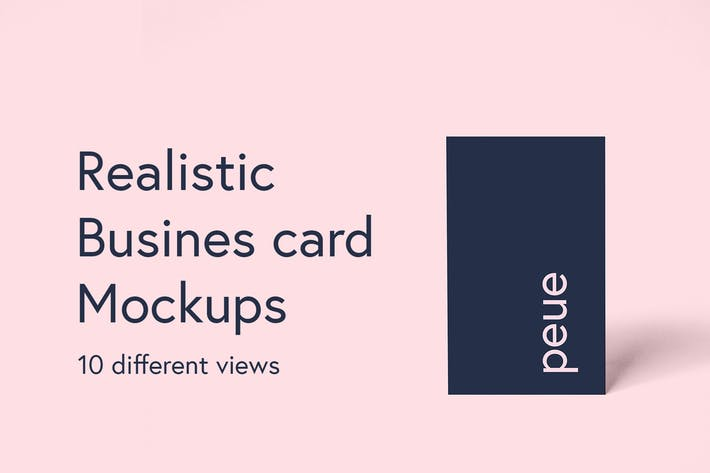 Thumbnail for Peue - Realistic Business Card Mockup