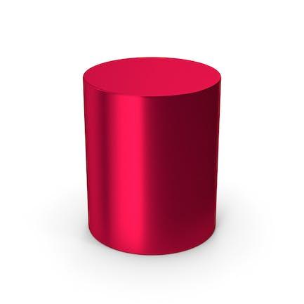Cylinder Red Metallic