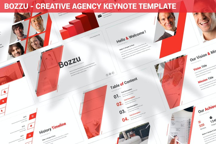 Thumbnail for Bozzu - Creative Agency Keynote Template