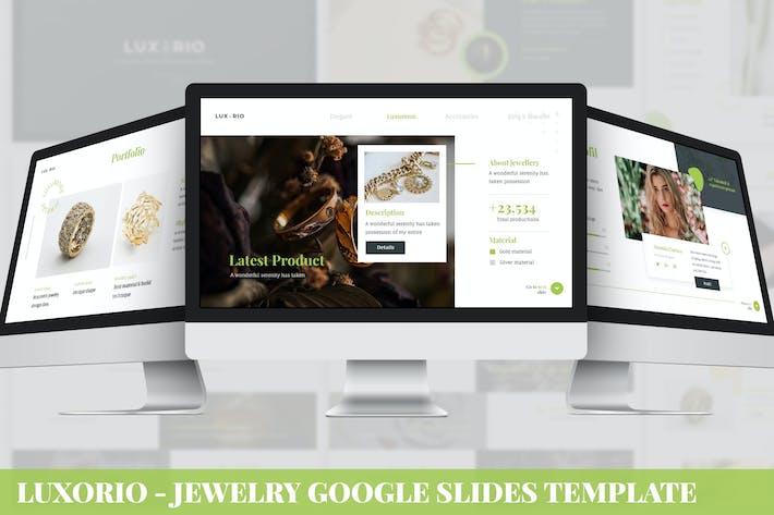 Luxario - Jewelry Google Slides Template