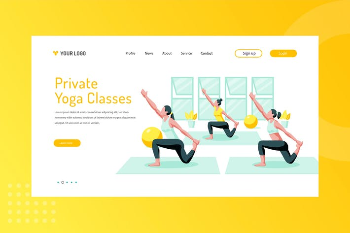 Thumbnail for Private Yoga Classes Landing Page