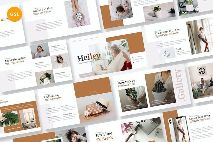 Cover Image For Heiley Творческий бизнес Google Слайды Шаблон