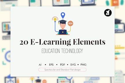 20 Elementos de aprendizaje electrónico