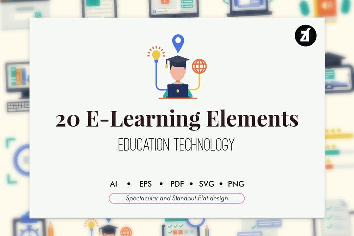 Thumbnail for 20 E-Learning elements