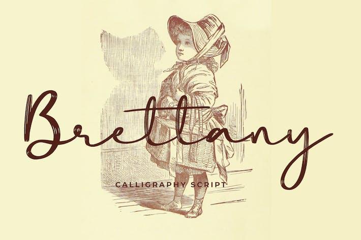 Thumbnail for Brettany Calligraphy Brush Script