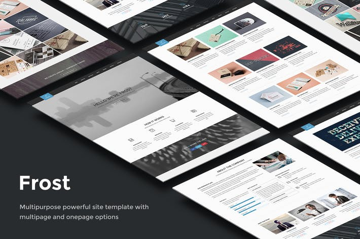 Thumbnail for Frost - Multipurpose Responsive One Page