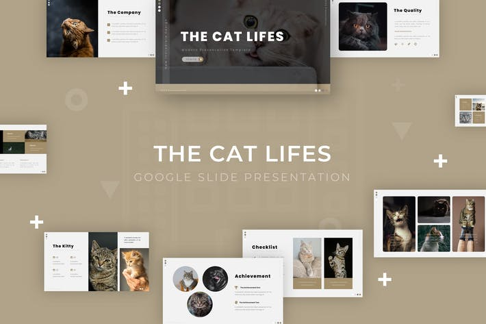 Thumbnail for The Cat Lifes - Google Slide Template