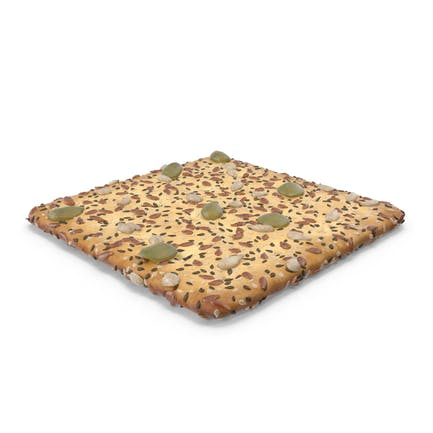 Square Cracker With Mixed Healthy Seeds