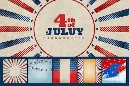 4th of July Card / Background