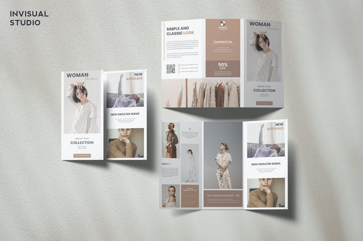 Thumbnail for Fashion Trifold Brochure Template