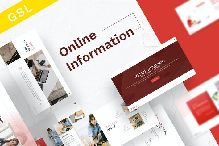 Thumbnail for Online Information Google Slides Template