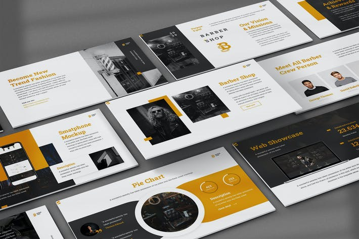 BarberShop - Elegant Powerpoint Template