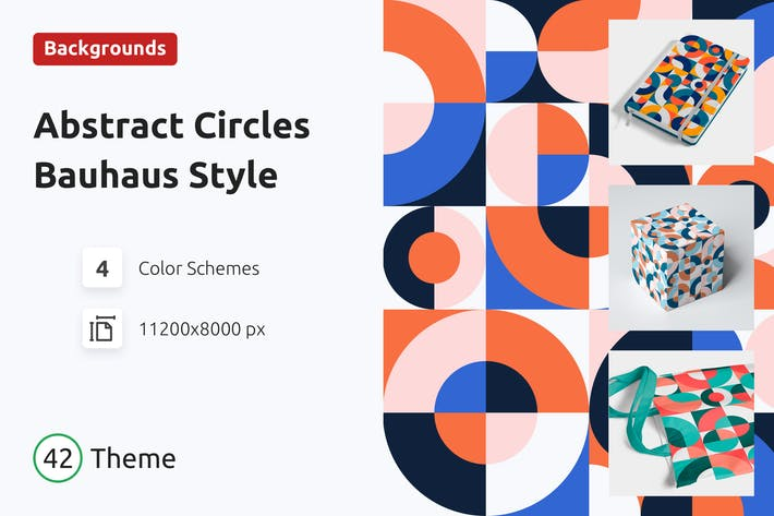 Thumbnail for Background Abstract Circles Bauhaus Style