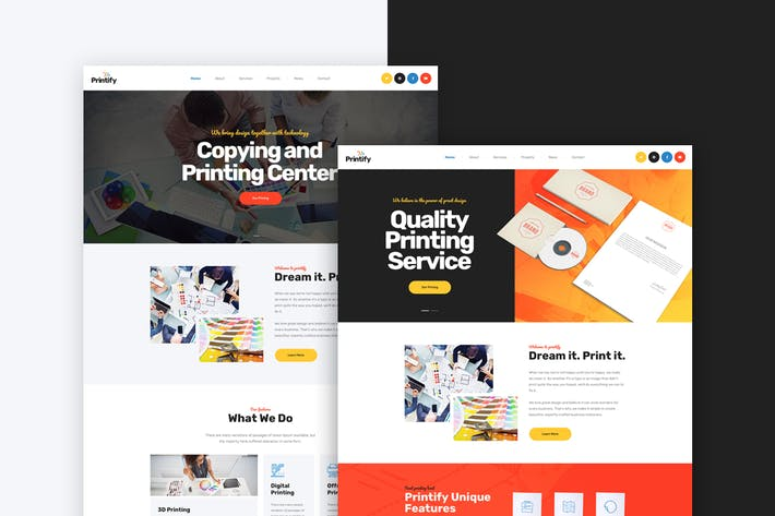 Thumbnail for Printify - Printing Company PSD Template
