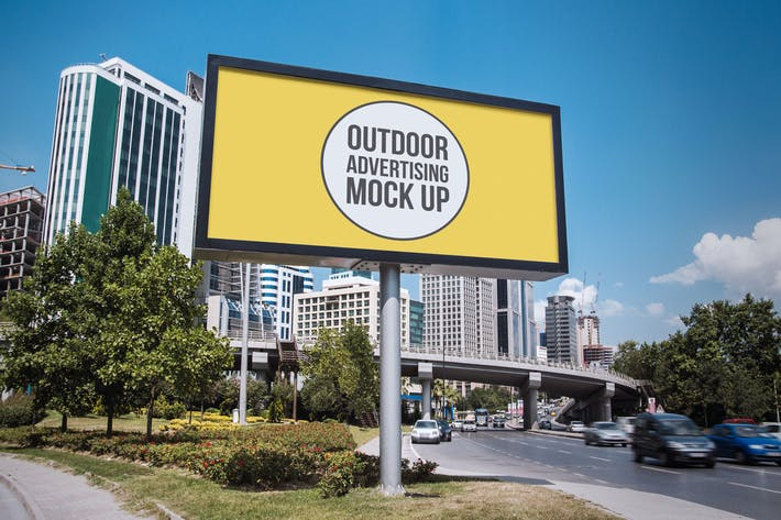 Thumbnail for Outdoor Advertisement Mockup Template #12