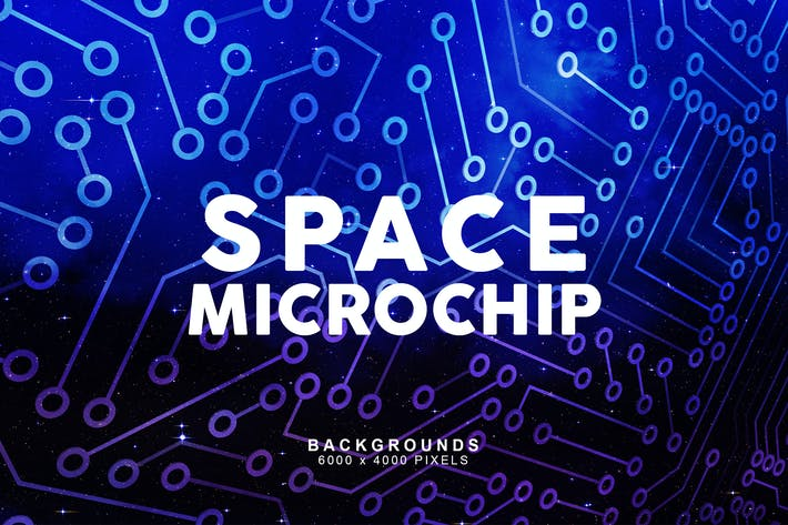 Thumbnail for Space Microchip Backgrounds 1