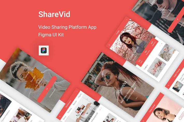Cover Image For ShareVid - Video Sharing Platform App for Figma