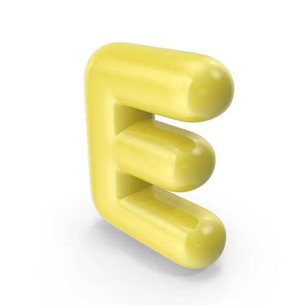 Thumbnail for Yellow Toon Balloon Letter E