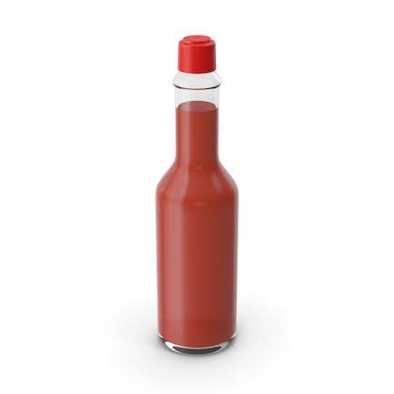 Flasche mit scharfer Soße ohne Aufkleber