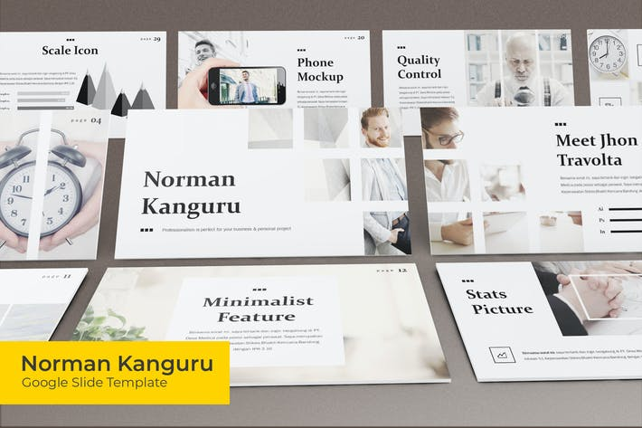 Thumbnail for Norman Kanguru - Google Slides Template