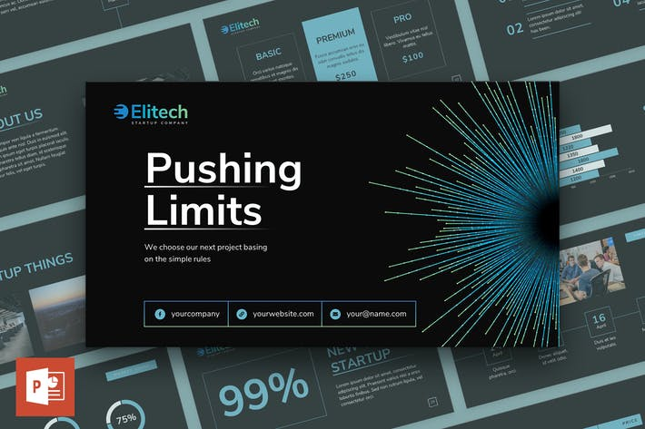 Thumbnail for Tech Startup PowerPoint Presentation Template