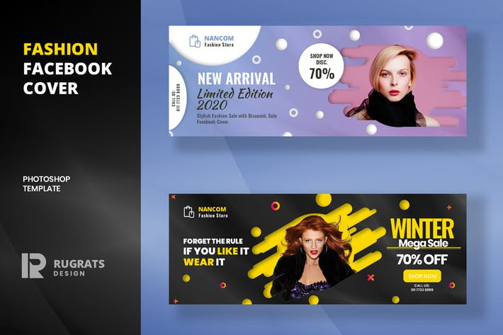 Thumbnail for Fashion R8 Facebook Cover Template