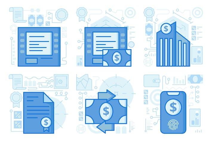 Thumbnail for Cash Transfer UI UX Illustrations