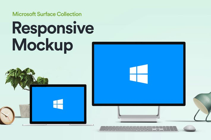 Thumbnail for Responsive Device Mockup - Microsoft Surface