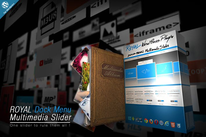 Thumbnail for Royal Dock Menu Multimedia Slider Wordpress Plugin