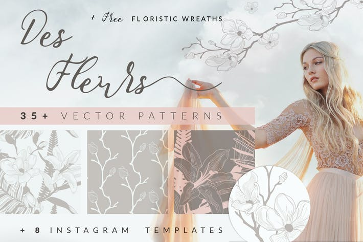 Thumbnail for 35+ Patterns & 8 Instagram Templates