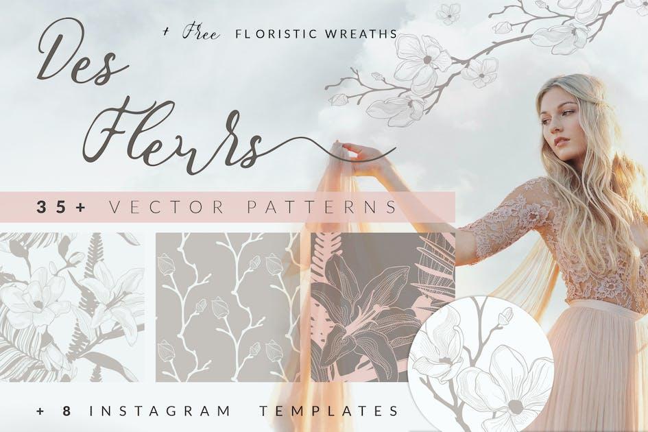 Download 35+ Patterns & 8 Instagram Templates by helga_helga